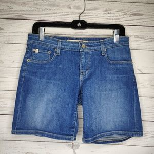 Big Star Denim Shorts Midi Length Size 28